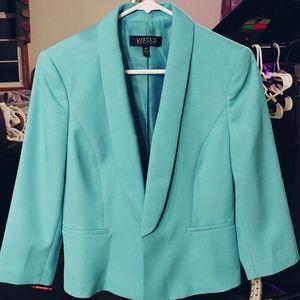 Caribbean blue petite blazer